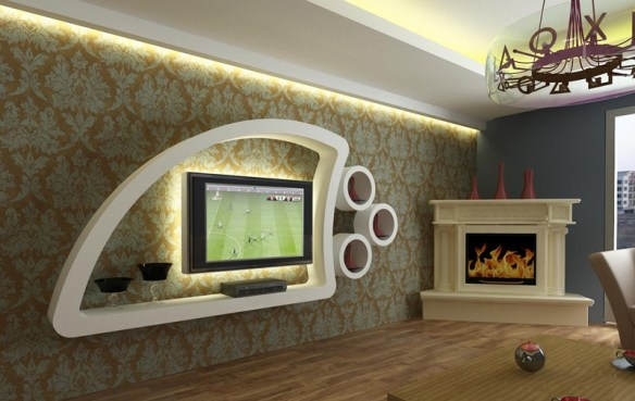 alçıpan tv ünitesi modeli 2