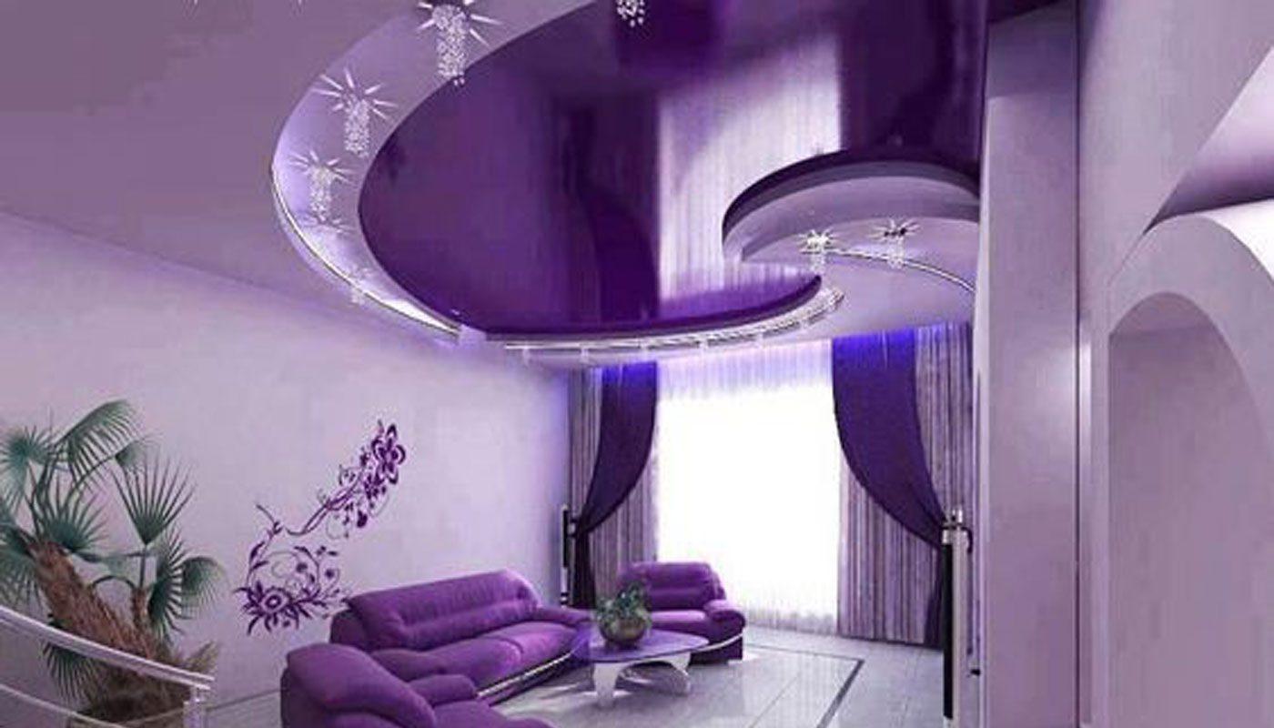 yatak odası için asma tavan 8
