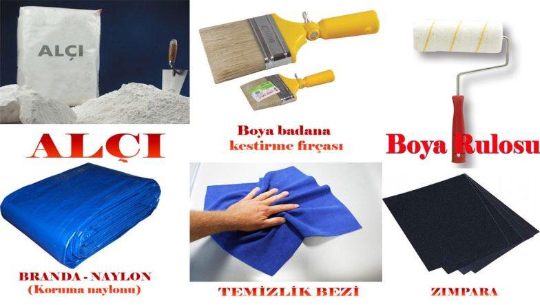 boya yaparken kullanılan malzemeler