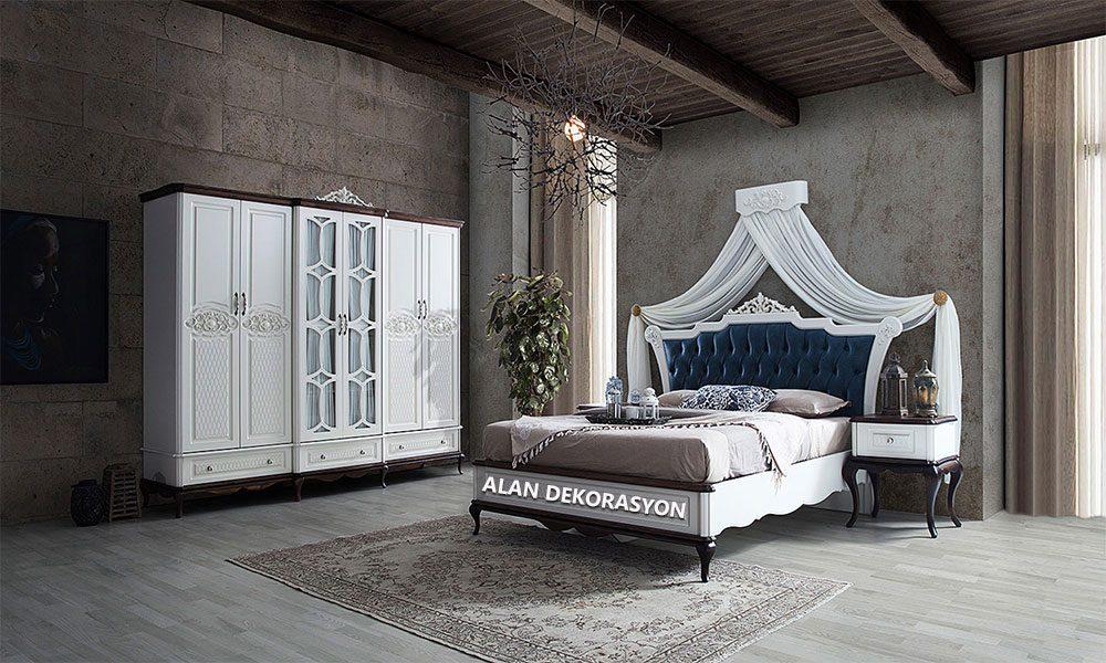 retro yatak odası modelleri