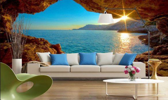 2018 3d duvar ka tlar en k ve zarif 3d dekoratif for Scenery wallpaper for home uk