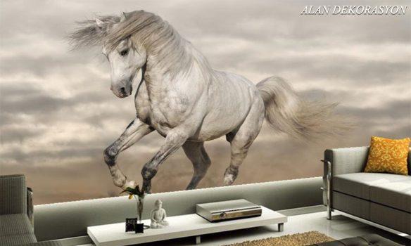 At figürlü duvar kağıtları 1