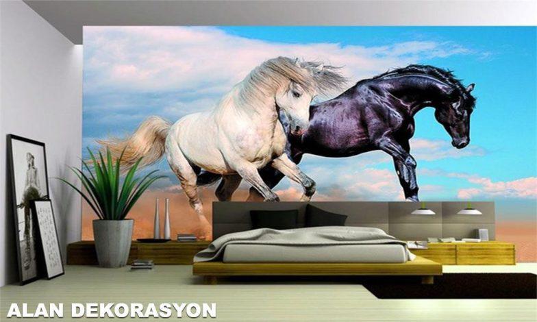 At figürlü duvar kağıtları 2