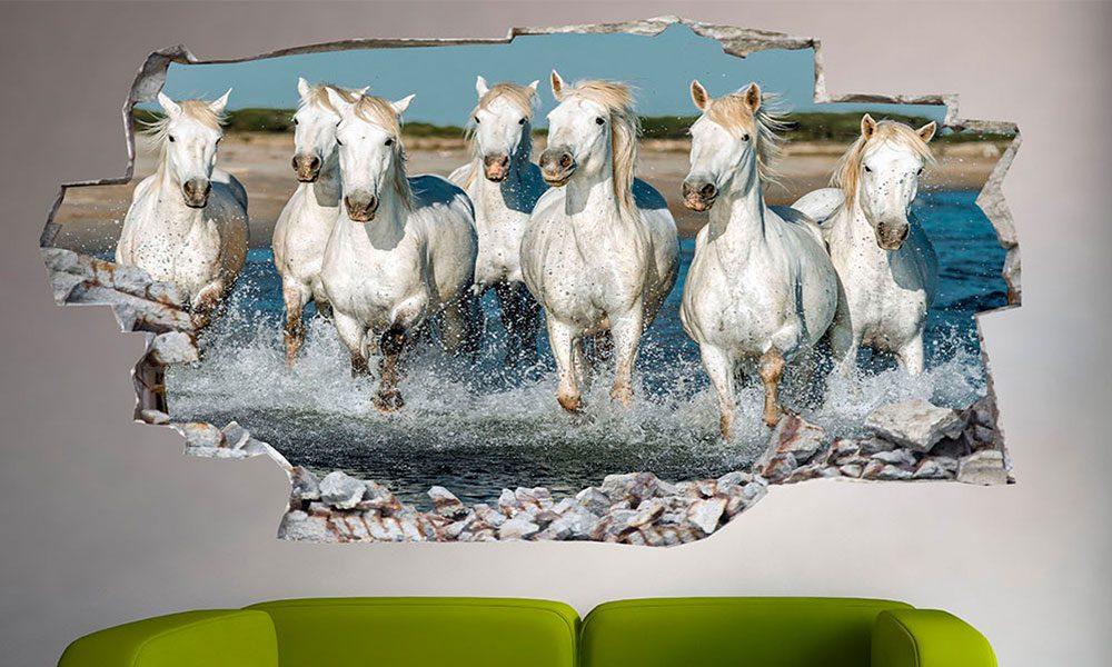 At figürlü duvar kağıtları 19