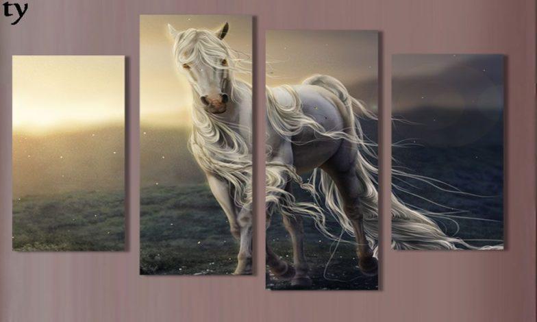 At figürlü duvar kağıtları 4