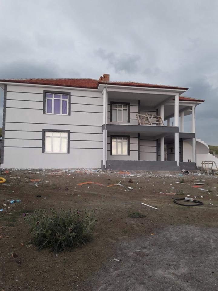 İki katlı temelden çatıya betonarme ev inşaatı çalışmamız8