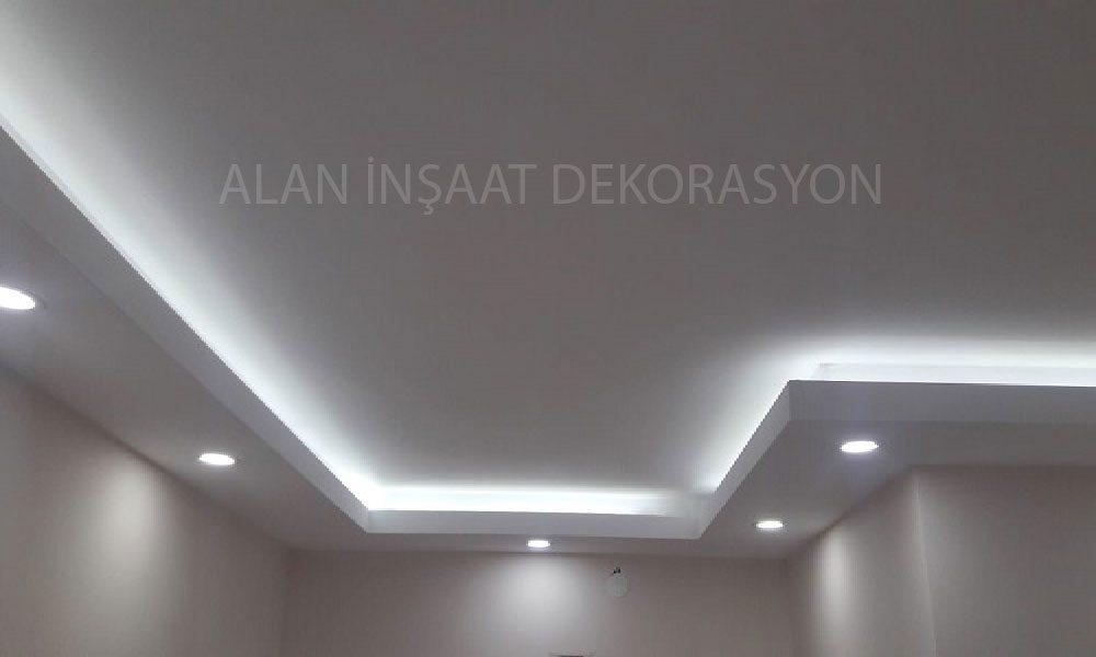 Salon asma tavan ve dekorasyon çalışmamız