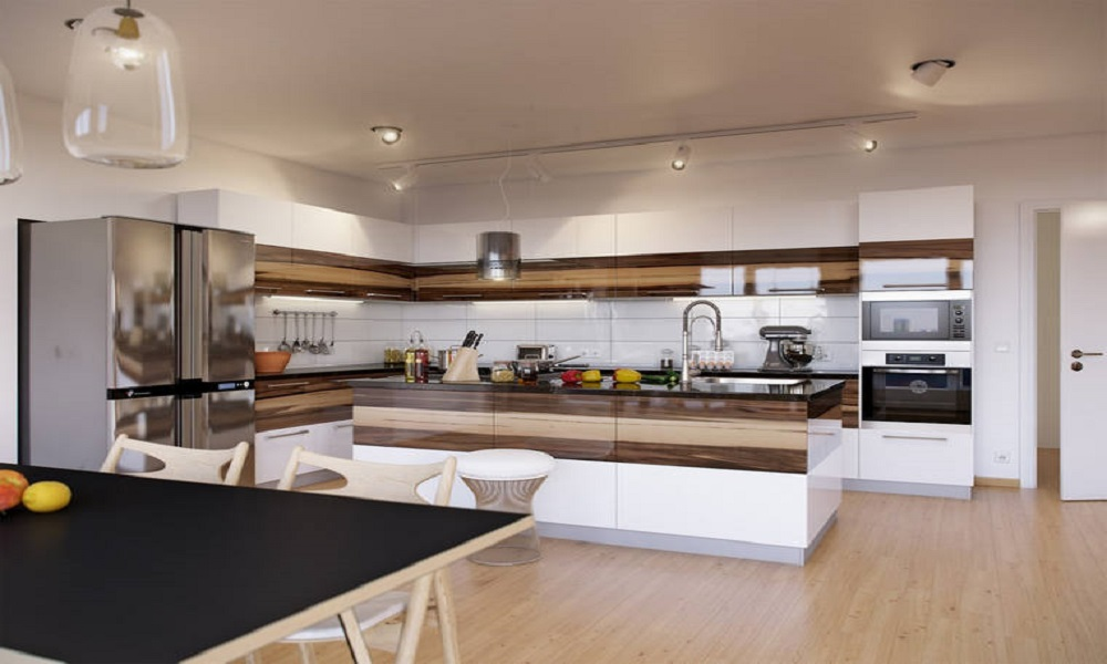modern ahşap mutfak modeli22