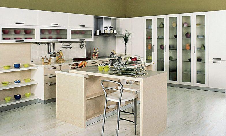 modern ahşap mutfak