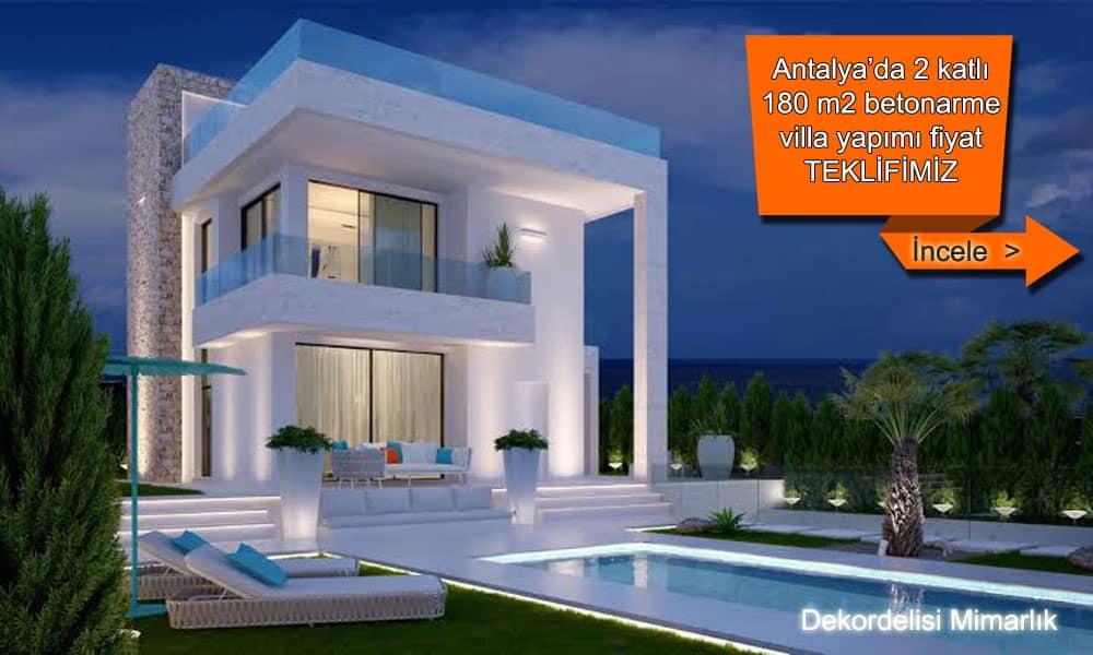 Antalya villa yapan firmalar inşaat şirketleri