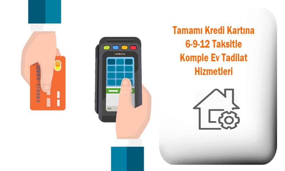 Kredi kartı ile tadilat ve dekorasyon hizmetlerimiz dekordelisi mimarlık