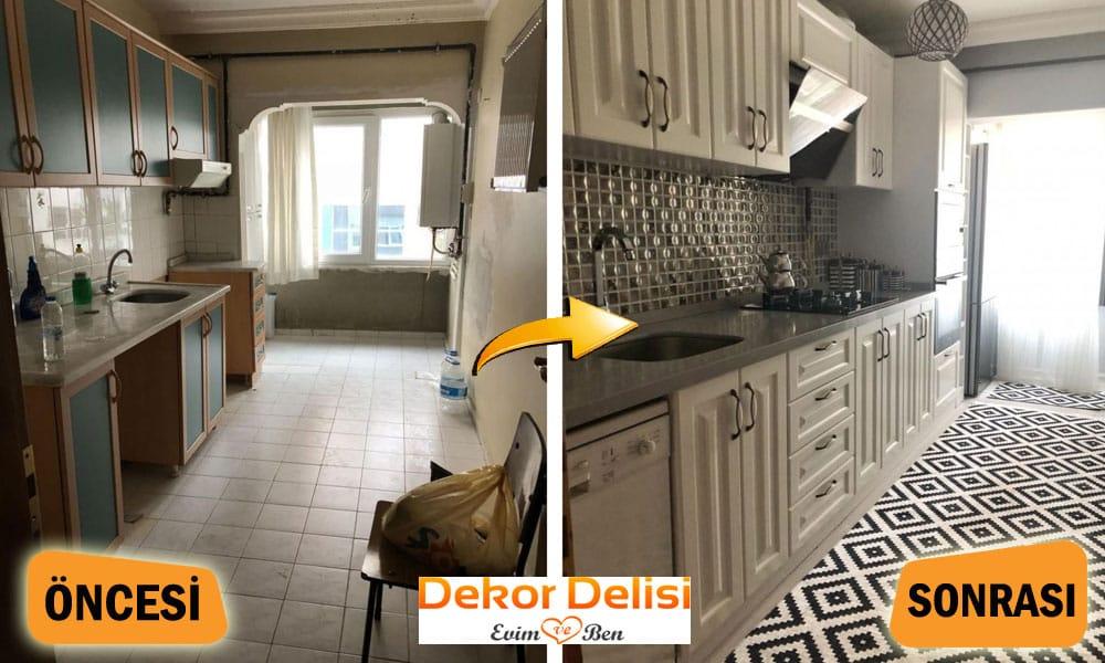 Mutfak tadilat ve dekorasyon u4ygulamaları
