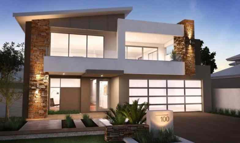 İki katlı ev ve villa modelleri 16