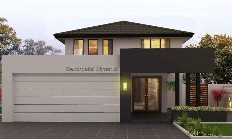 İki katlı ev ve villa modelleri 7