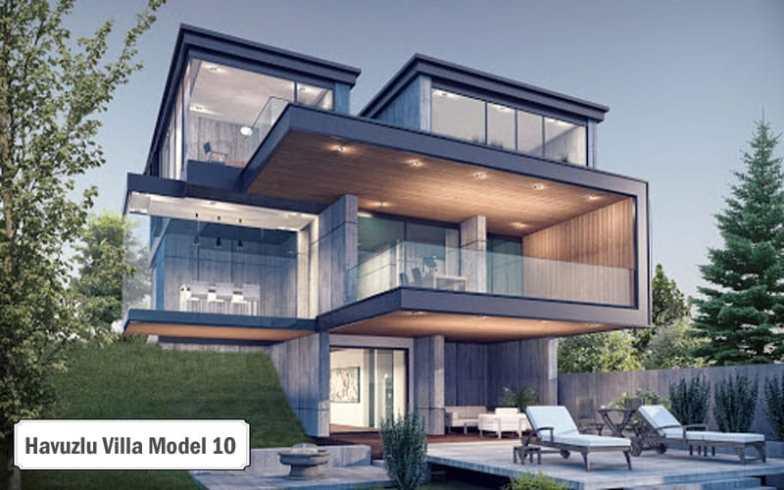 Havuzlu villa projeleri ve modelleri 10