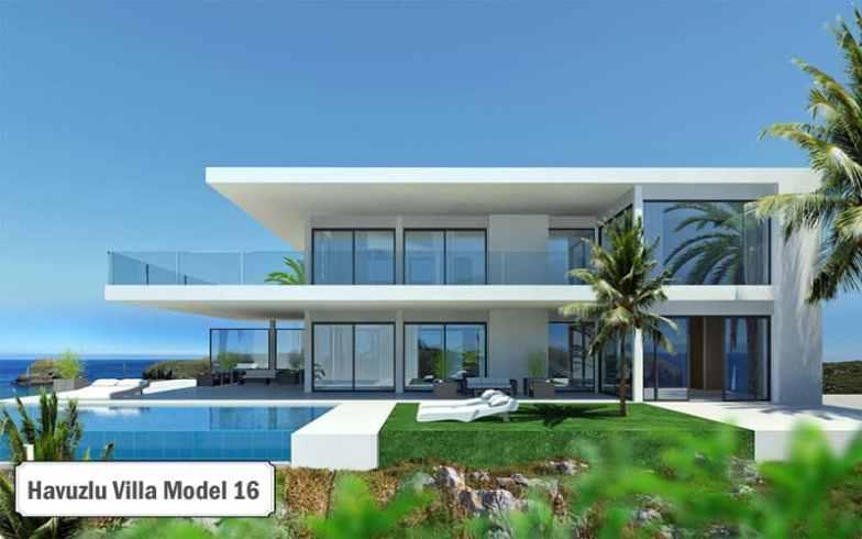 Havuzlu villa projeleri ve modelleri 16