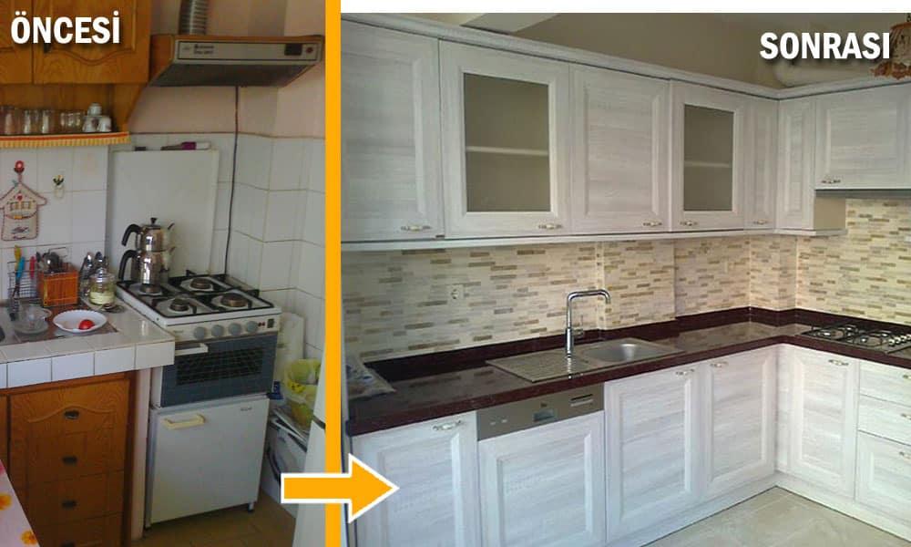 Mutfak tadilat ve dekorasyon uygulamaları