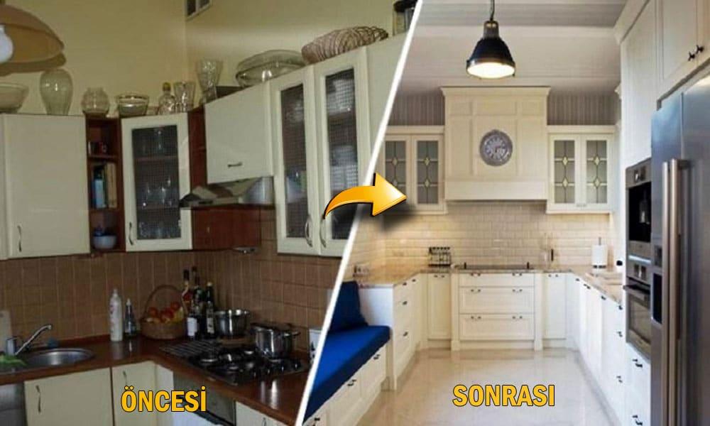 Mutfak tadilat ve dekorasyon u2ygulamaları