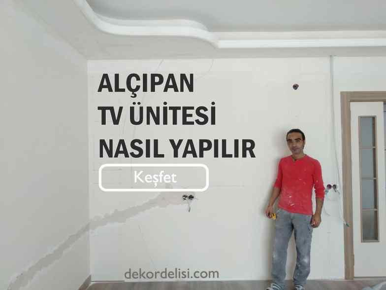 Alçıpan televizyon ünitesi nasıl yapılır izle