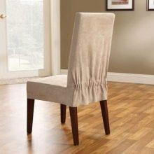 Чехлы на стулья (88 фото): еврочехлы на кухню со спинкой и ...