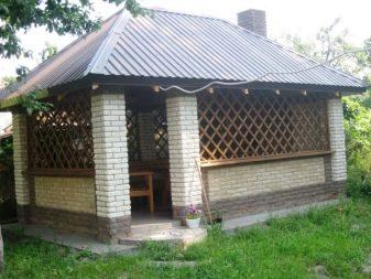 Беседка из кирпича (70 фото): закрытые кирпичные постройки ...