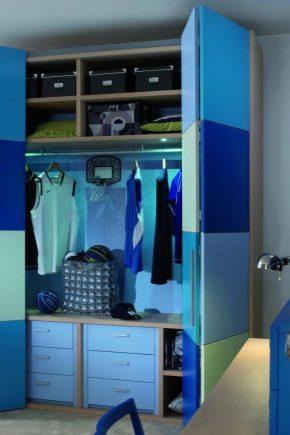 Шкафы в детскую комнату для мальчика (36 фото): модели с ...