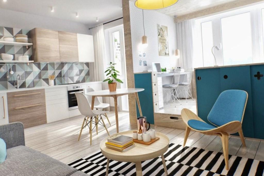 дизайн интерьера маленькой квартиры 1