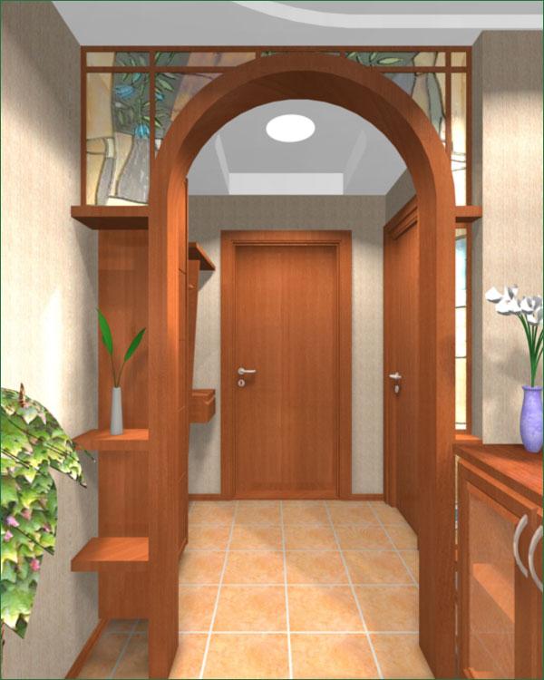 арки из гипсокартона фото дизайн интерьера в прихожей 6