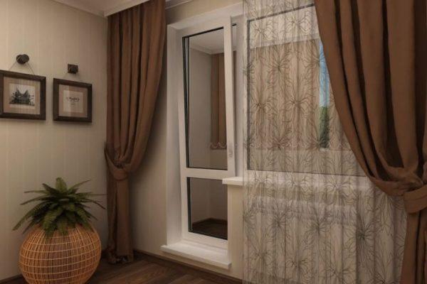 Тюль на балкон (36 фото): современные модели на окно с ...