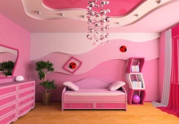 Подвесные потолки в детской комнате (45 фото): навесные ...