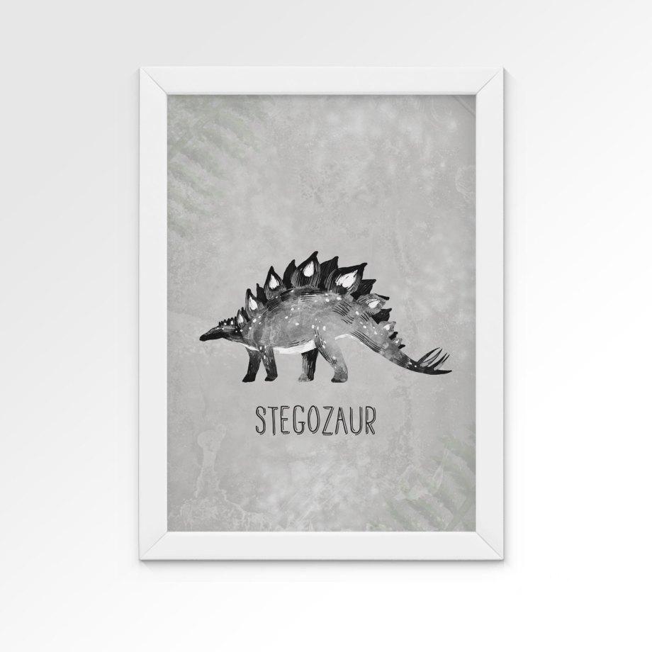 plakat-dino-stegozaur-dekorillo