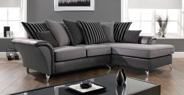 Küçük köşe kanepe fotoğrafı gri