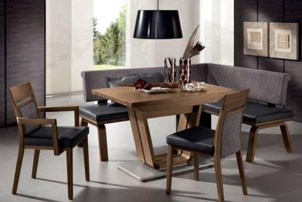 Salon için köşe döşemeli mobilyalar - yemek takımının fotoğrafı