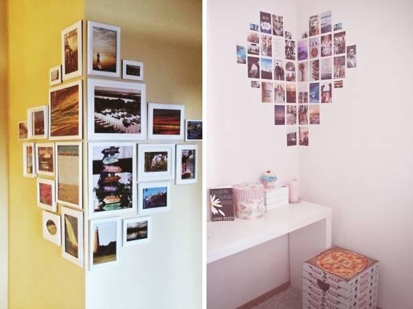 Как оформить фотографии на стене – 30 фото в интерьере