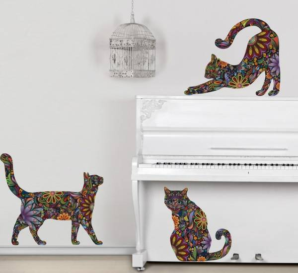 Duvar Dekoru Çıkartmaları - Yavru Kedi