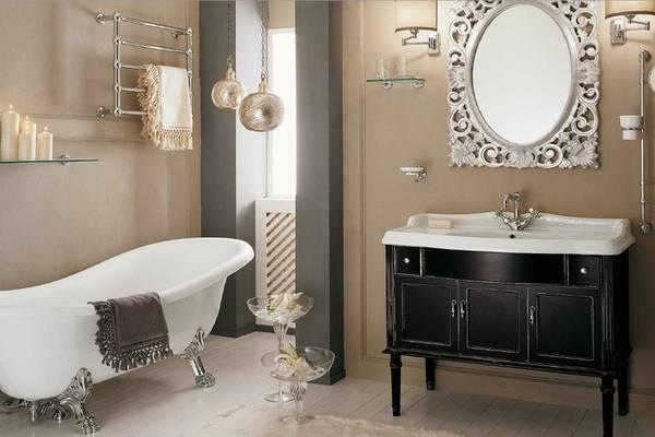 klasik tarzda banyo mobilyaları, fotoğraf 13