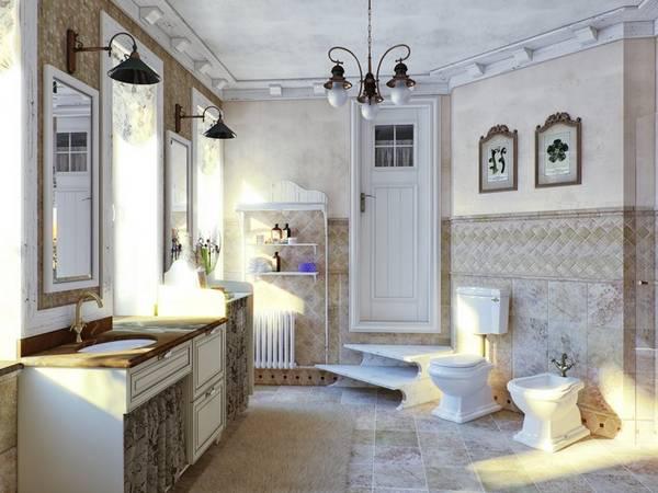 klasik tarzda banyo dolabı, fotoğraf 16