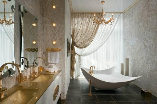 klasik tarzda banyoda avize, fotoğraf 17