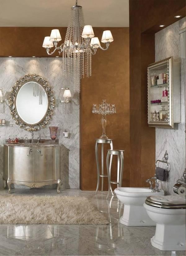 klasik tarzda banyoda avize, fotoğraf 19