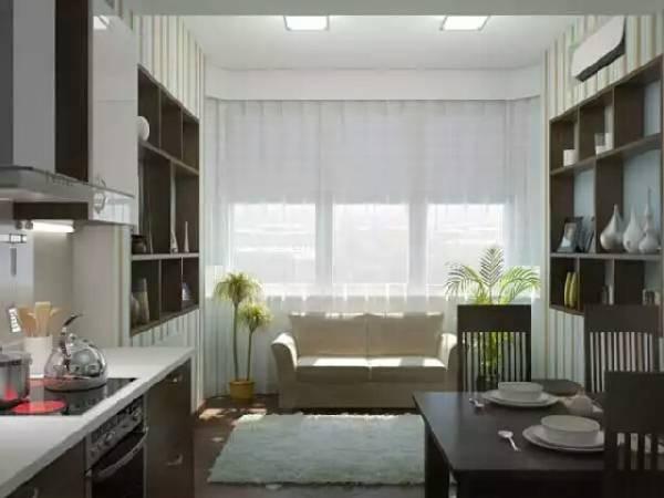 yatak odası ile katlanır mutfak köşesi, fotoğraf