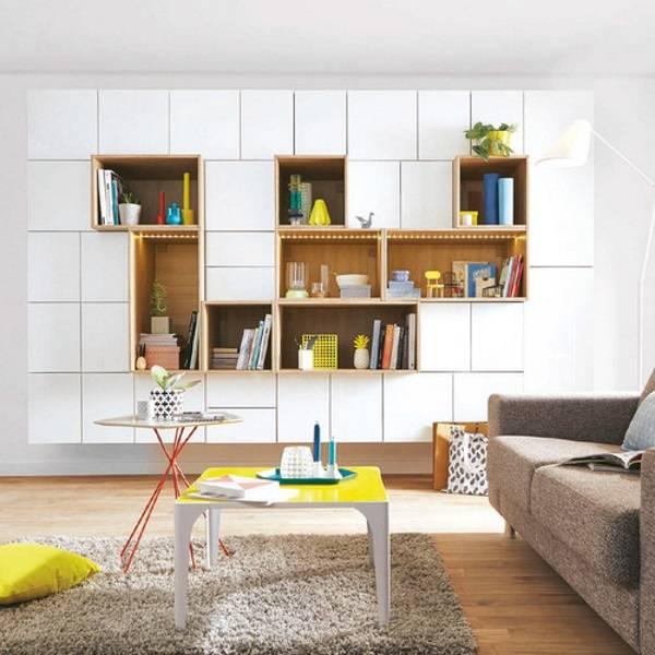 modern tarzda bir fotoğrafta oturma odasında gardıroplar, fotoğraf 10