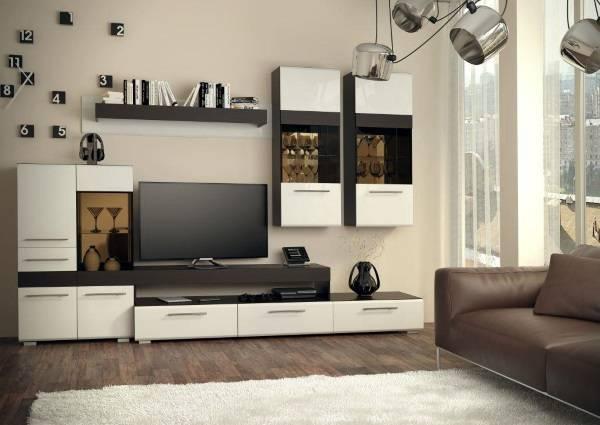 modern tarzda bir fotoğrafta oturma odasında gardıroplar, fotoğraf 16
