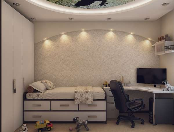Erkekler için bir çocuk odasının içi, fotoğraf 11