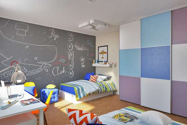 7 yaşında bir çocuk için çocuk odasının içi, fotoğraf 18