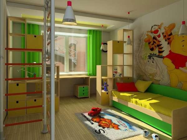 5 yaşında bir çocuk için çocuk odasının içi, fotoğraf 9