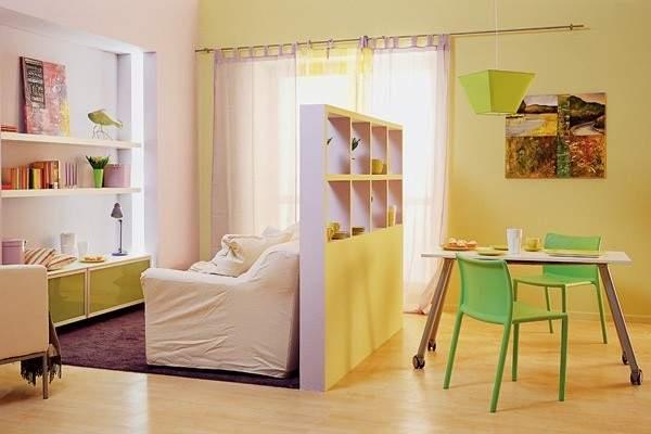 küçük tek odalı bir dairenin iç tasarımı, fotoğraf 25
