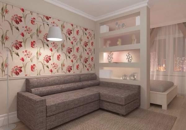 küçük tek odalı bir dairenin iç tasarımı, fotoğraf 29