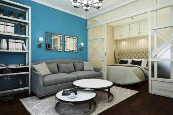 tek odalı küçük bir dairenin tasarımı, fotoğraf 32