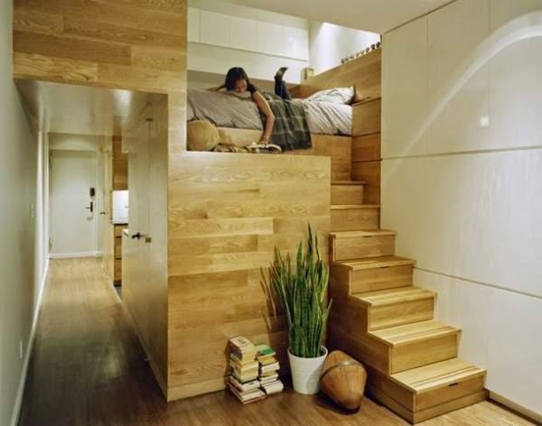 küçük tek odalı bir dairenin iç tasarımı, fotoğraf 33