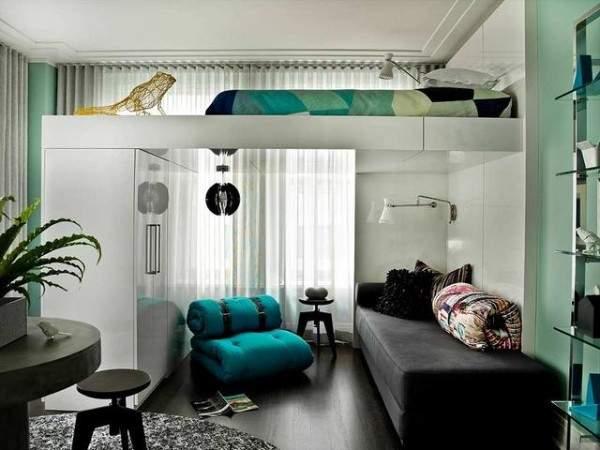 küçük stüdyo daire iç tasarım, fotoğraf 35